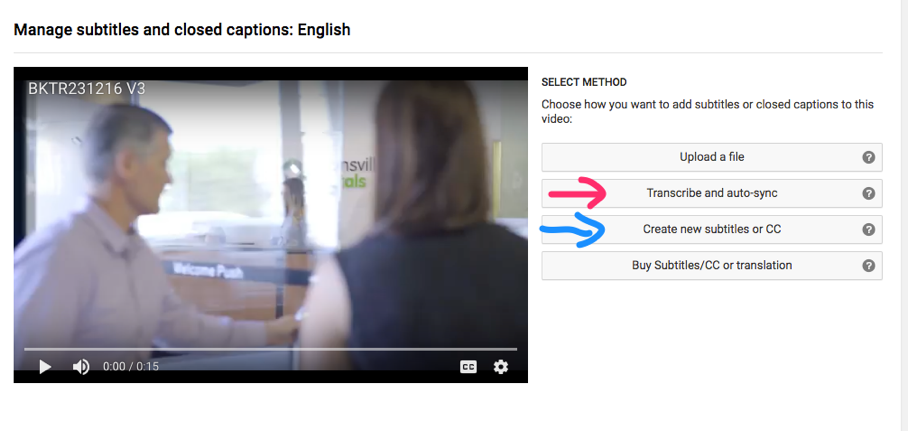 manage subtitles in youtube